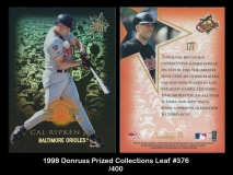 1998 Donruss Prized Collections Leaf #376