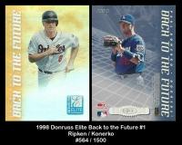 1998 Donruss Elite Back to the Future #1