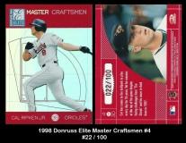 1998 Donruss Elite Master Craftsmen #4