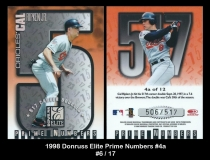 1998 Donruss Elite Prime Numbers #4a