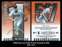 1998 Donruss Elite Prime Numbers #4b