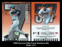 1998 Donruss Elite Prime Numbers #4c