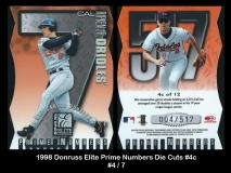1998 Donruss Elite Prime Numbers Die Cuts #4c