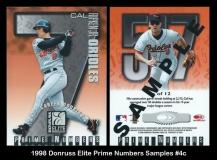 1998 Donruss Elite Prime Numbers Samples #4c