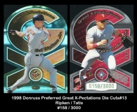 1998 Donruss Preferred Great X-Pectations Die Cuts #13
