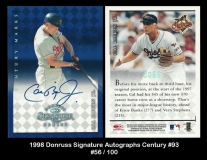 1998 Donruss Signature Autographs Century #93