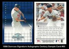 1998 Donruss Signature Autographs Century Sample Card #93