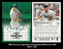 1998 Donruss Signature Autographs Millennium #95