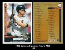 1998 Donruss Signature Proofs #109