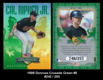 1998 Donruss Crusade Green #8