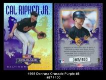 1998 Donruss Crusade Purple #8