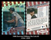 1998 Donruss FANtasy Team Die Cuts #3
