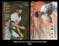 1998 Donruss Gold Press Proofs #389