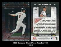 1998 Donruss Silver Press Proofs #160