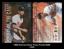 1998 Donruss Silver Press Proofs #389