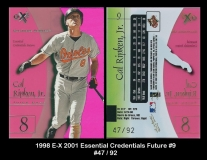 1998 E-X 2001 Essential Credentials Future #9