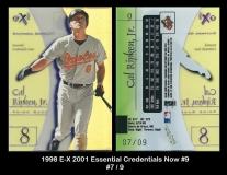 1998 E-X 2001 Essential Credentials Now #9