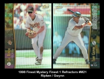 1998 Finest Mystery Finest 1 Refractors #M21