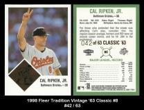 1998 Fleer Tradition Vintage '63 Classic #8