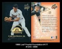 1998 Leaf Fractal Foundations #177