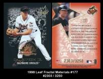 1998 Leaf Fractal Materials #177