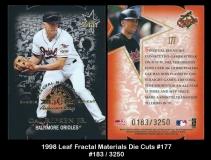 1998 Leaf Fractal Materials Die Cuts #177