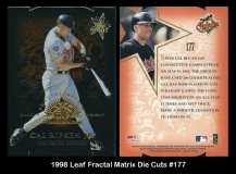 1998 Leaf Fractal Matrix Die Cuts #177