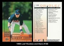 1998 Leaf Rookies and Stars #188