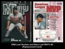 1998 Leaf Rookies and Stars Leaf MVP's #3 Replacement Card