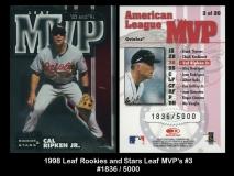 1998 Leaf Rookies and Stars Leaf MVPs #3