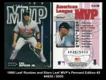 1998 Leaf Rookies and Stars Leaf MVPs Pennant Edition #3