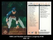 1998 Leaf Rookies and Stars Longevity #188