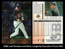 1998 Leaf Rookies and Stars Longevity Executive Promo #28