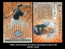 1998 Leaf Rookies and Stars Standing Ovations #6