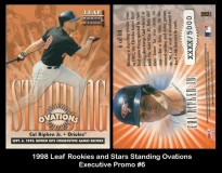 1998 Leaf Rookies and Stars Standing Ovations Executive Promo #6