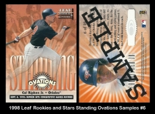 1998 Leaf Rookies and Stars Standing Ovations Samples #6