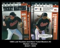 1998 Leaf Rookies and Stars Ticket Masters #3