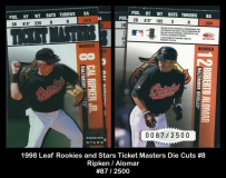 1998 Leaf Rookies and Stars Ticket Masters Die Cuts #8