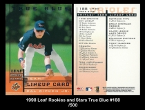 1998 Leaf Rookies and Stars True Blue #188