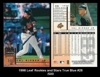 1998 Leaf Rookies and Stars True Blue #28