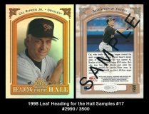 1998 Leaf Heading for the Hall Samples #17