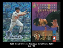 1998 Metal Universe Precious Metal Gems #200
