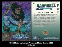 1998 Metal Universe Precious Metal Gems #213