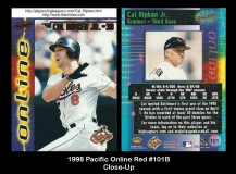 1998 Pacific Online Red #101B Close Up