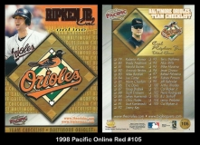 1998 Pacific Online Red #105