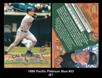 1998 Pacific Platinum Blue #33