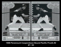 1998 Paramount Cooperstown Bound Pacific Proofs #2