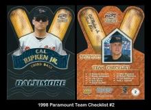 1998 Paramount Team Checklist #2