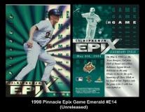 1998 Pinnacle Epix Game Emerald #E14