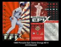 1998 Pinnacle Epix Game Orange #E14
